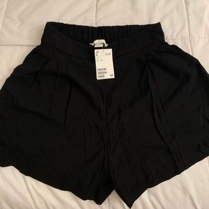 H&M Black Dress Shorts